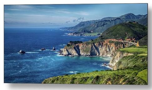 Captivating California Coast By The Bixby Bridge Metal Print