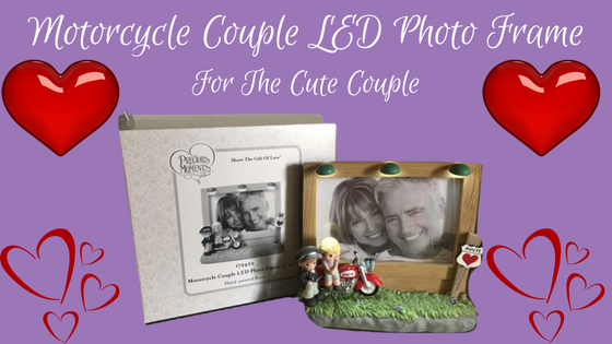 Motorcycle Couple LED Photo Frame Precious Moment
