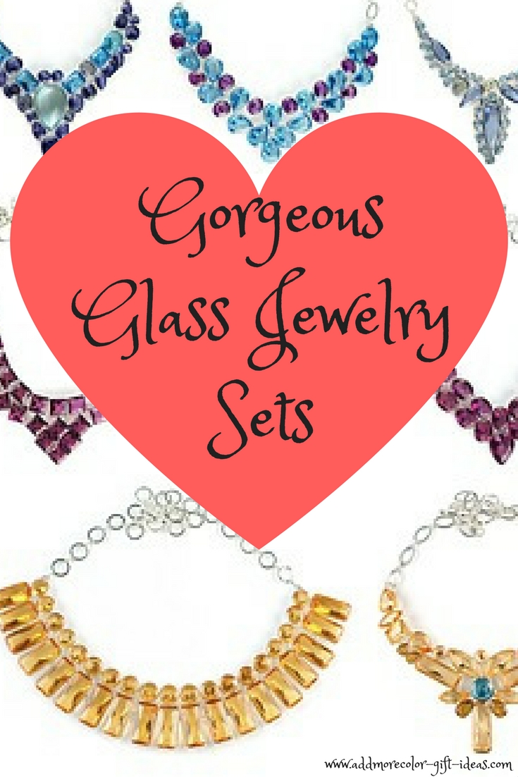 best glass jewelry sets