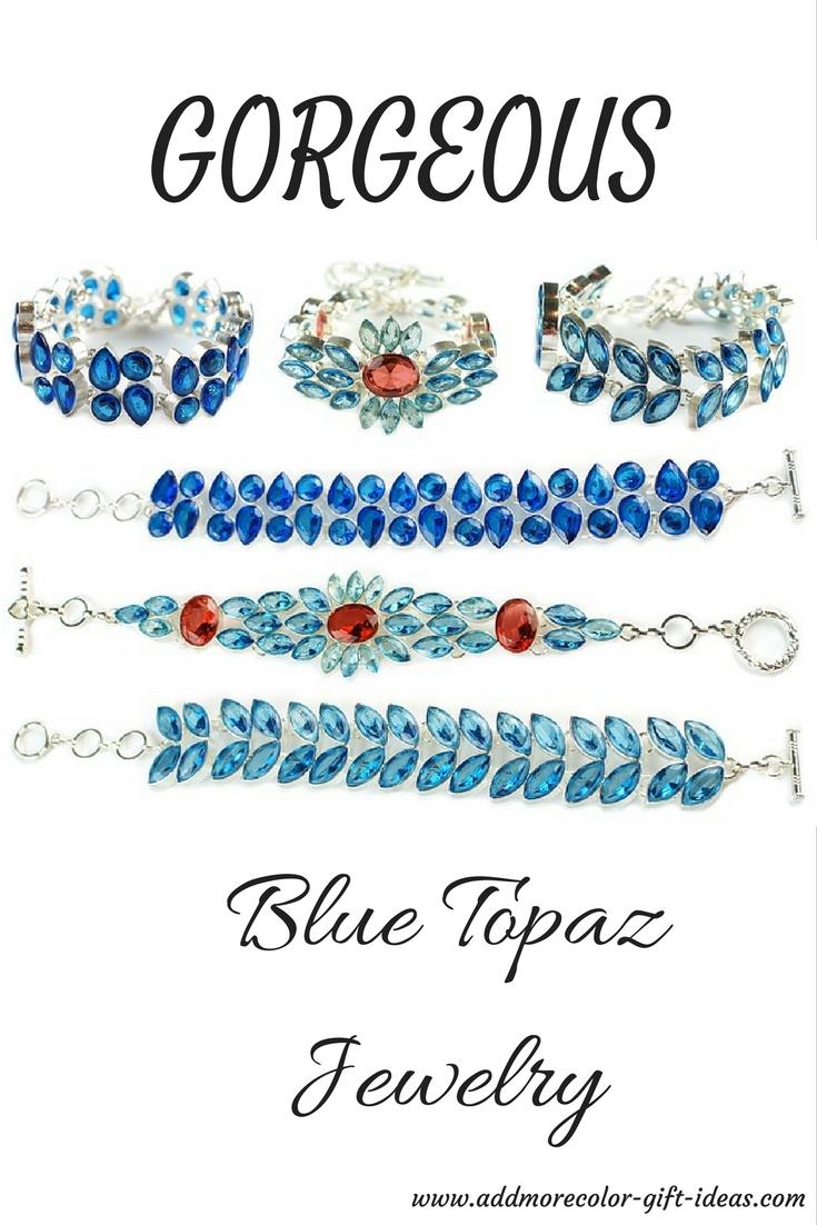 blue topaz jewelry necklaces