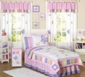 butterfly bedding and kids decor