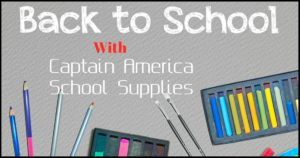Captain America School Supplies For A Perfect School Year