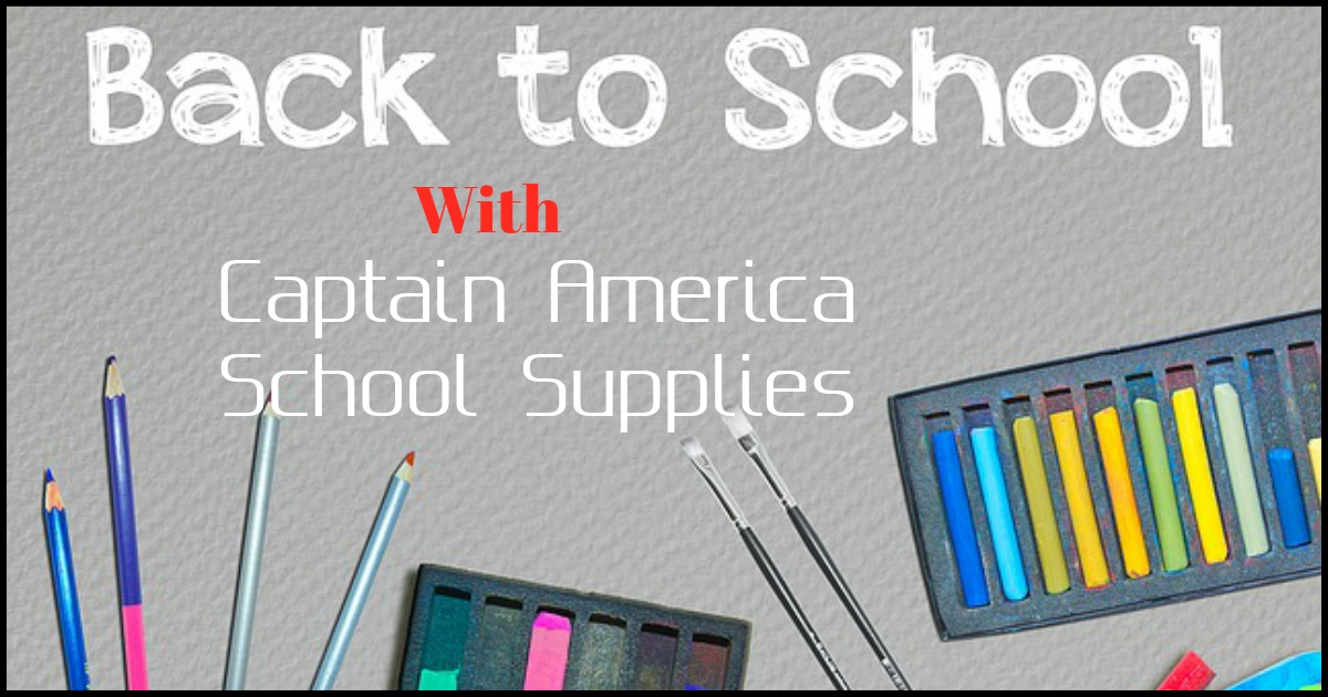 captain america school supplies