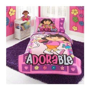 dora kids bedding