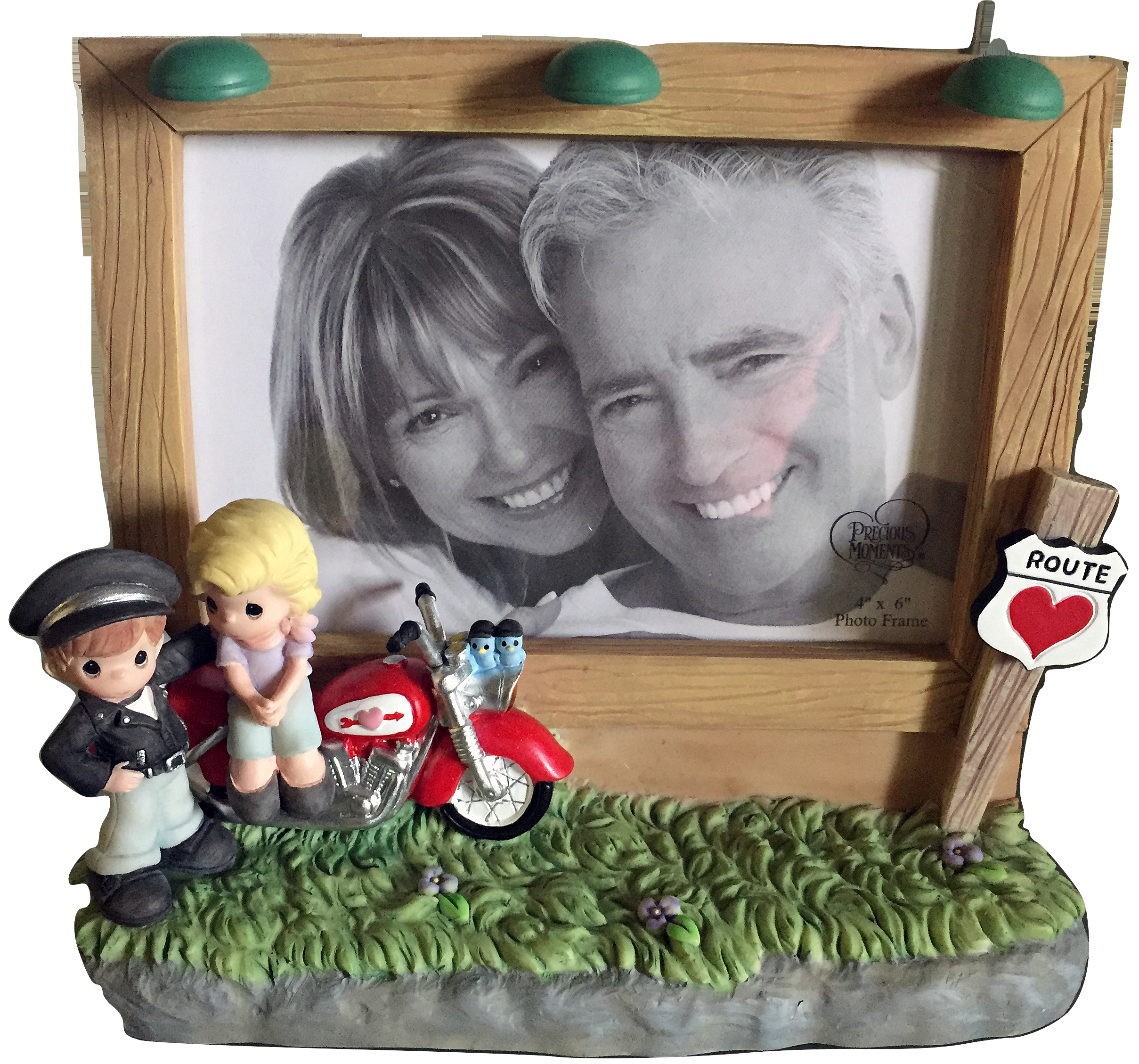 Motorcycle Couple LED Photo Frame