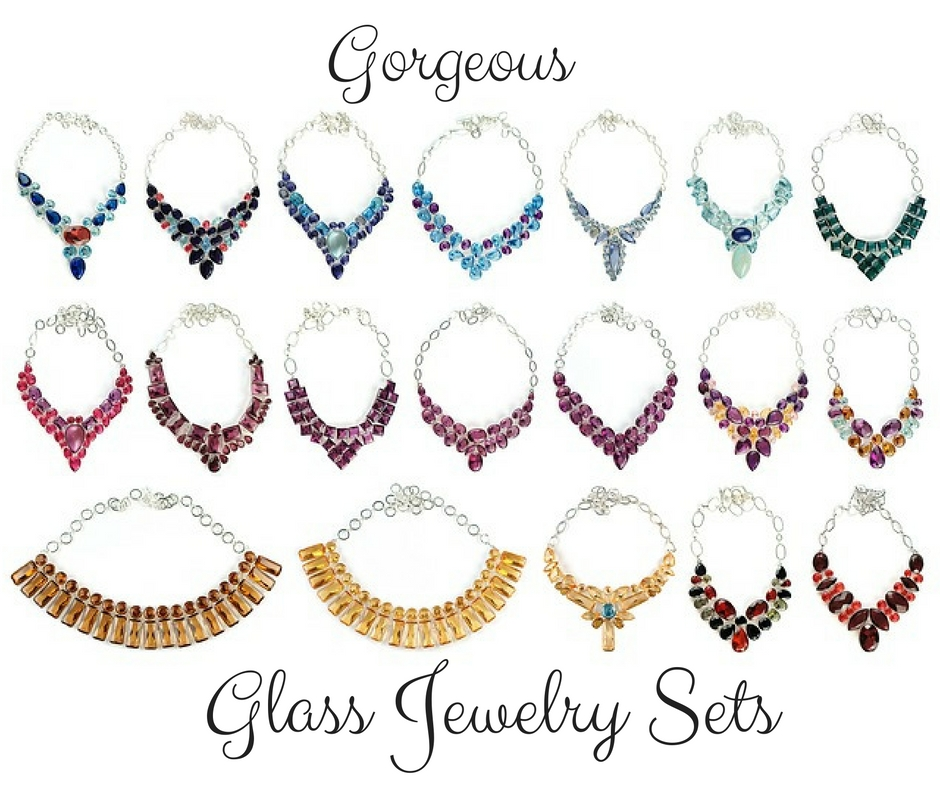 glass jewelry sets