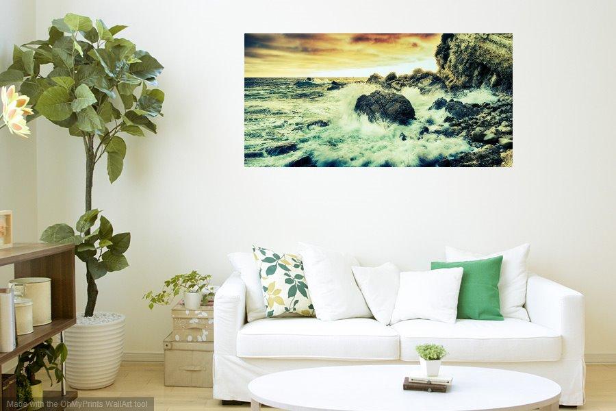 shoreline metal picture prints