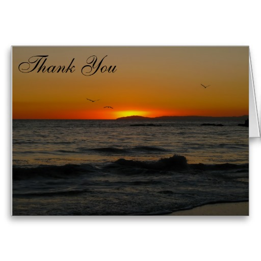Thank You Cards with the Gorgeous Sunset