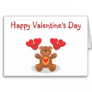 Don't Forget Valentine's Day Cards and Roses